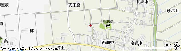愛知県田原市村松町周辺の地図