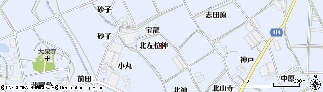 愛知県田原市大草町(北左位神)周辺の地図