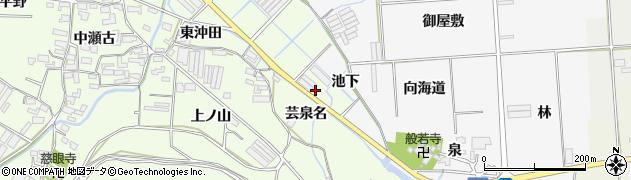 愛知県田原市石神町(沖田)周辺の地図