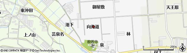 愛知県田原市伊川津町(向海道)周辺の地図