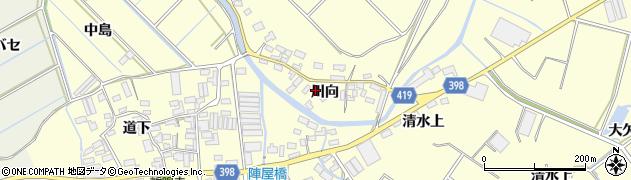 愛知県田原市八王子町(川向)周辺の地図