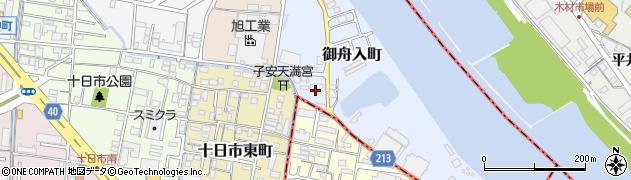 岡山県岡山市北区御舟入町周辺の地図