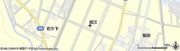 愛知県田原市高松町(屋江)周辺の地図