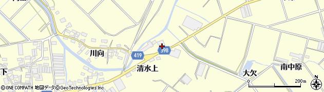 愛知県田原市八王子町(深沢)周辺の地図