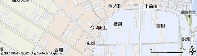 愛知県田原市福江町(今ノ田上)周辺の地図