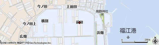 愛知県田原市向山町(前田)周辺の地図