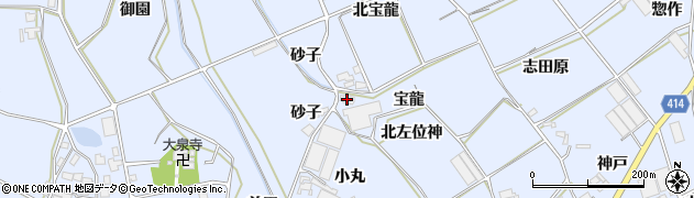 愛知県田原市大草町(宝龍)周辺の地図