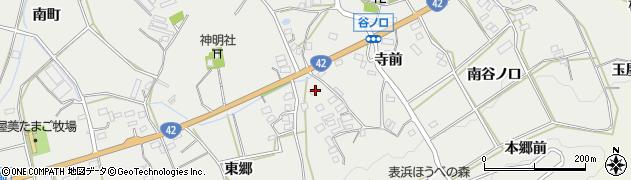 愛知県田原市南神戸町(南中島)周辺の地図