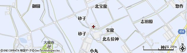 愛知県田原市大草町(北宝龍)周辺の地図