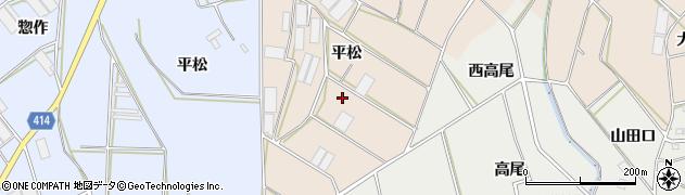 愛知県田原市西神戸町(平松)周辺の地図