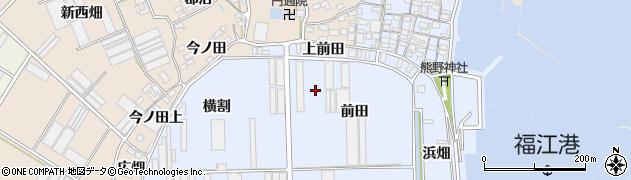 愛知県田原市向山町周辺の地図
