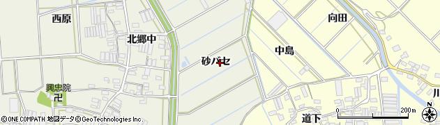 愛知県田原市村松町(砂バセ)周辺の地図