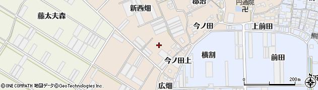 愛知県田原市福江町(新西畑)周辺の地図