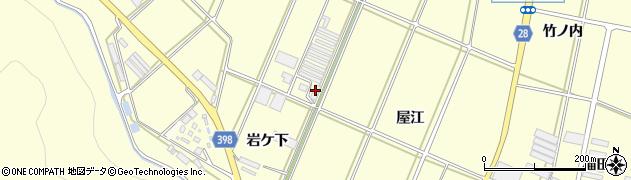 愛知県田原市高松町(岩ケ下)周辺の地図