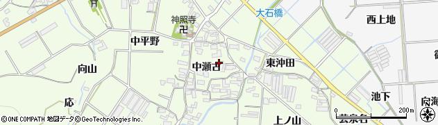 愛知県田原市石神町(中瀬古)周辺の地図
