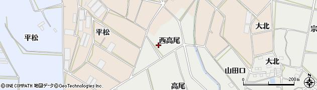 愛知県田原市南神戸町(西高尾)周辺の地図