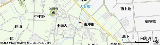 愛知県田原市石神町(東沖田)周辺の地図