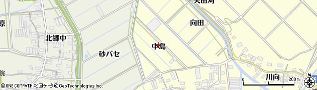 愛知県田原市八王子町(中島)周辺の地図