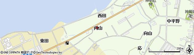 愛知県田原市石神町(向山)周辺の地図