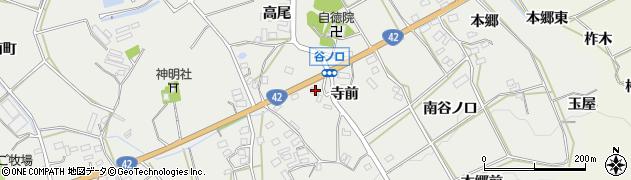 愛知県田原市南神戸町(寺前)周辺の地図