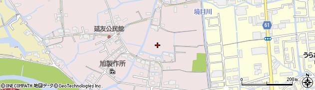 岡山県岡山市北区延友周辺の地図