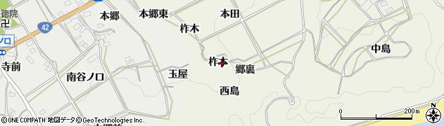 愛知県田原市東神戸町(柞木)周辺の地図