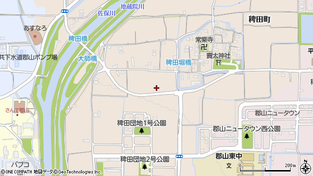 〒639-1108 奈良県大和郡山市稗田町の地図