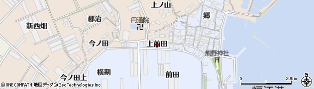 愛知県田原市向山町(上前田)周辺の地図