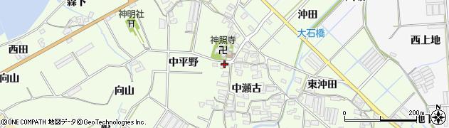 愛知県田原市石神町(西中瀬古)周辺の地図