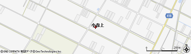 愛知県田原市小中山町(小森上)周辺の地図