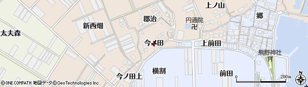 愛知県田原市福江町(今ノ田)周辺の地図
