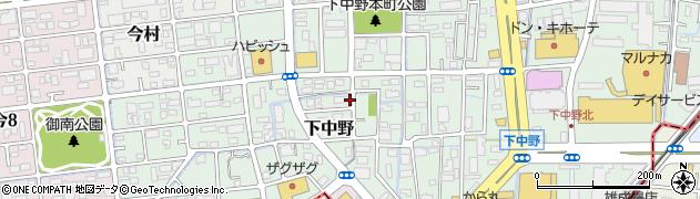 岡山県岡山市北区下中野周辺の地図