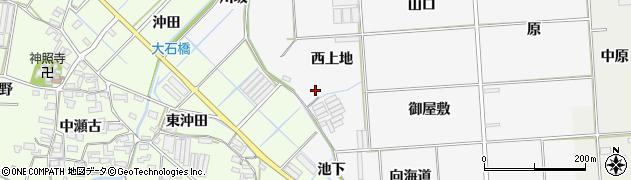 愛知県田原市伊川津町(西上地)周辺の地図