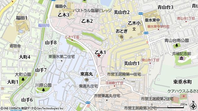 〒655-0882 兵庫県神戸市垂水区乙木の地図