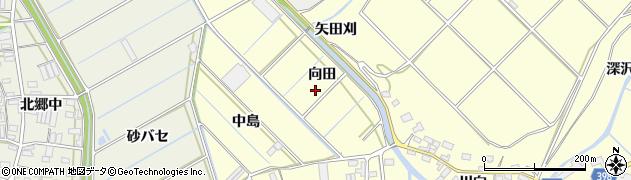 愛知県田原市八王子町(向田)周辺の地図