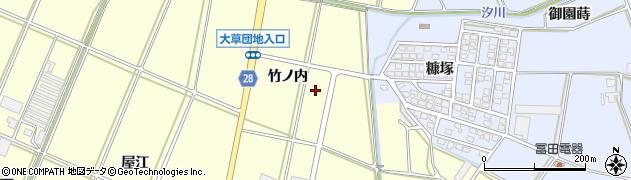 愛知県田原市高松町(竹ノ内)周辺の地図