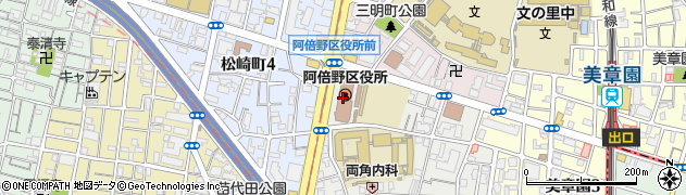 大阪府大阪市阿倍野区周辺の地図