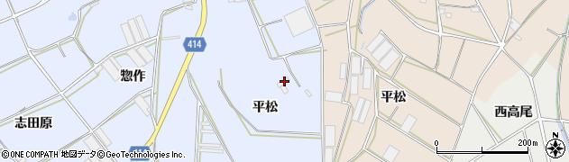 愛知県田原市大草町(平松)周辺の地図