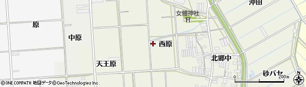 愛知県田原市村松町(西原)周辺の地図