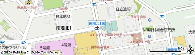 南港北1東周辺の地図