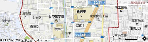 大阪府大阪市生野区巽南周辺の地図