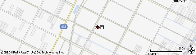 愛知県田原市小中山町(水門)周辺の地図