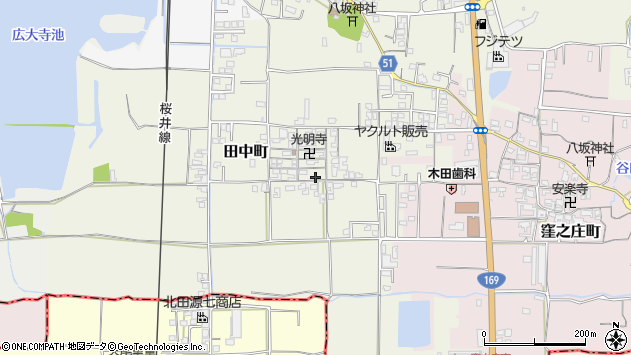 〒630-8432 奈良県奈良市田中町の地図