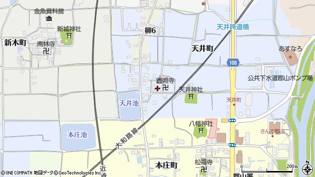 〒639-1135 奈良県大和郡山市天井町の地図