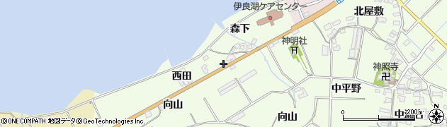 愛知県田原市石神町(西田)周辺の地図