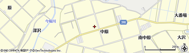 愛知県田原市八王子町(中原)周辺の地図