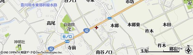 愛知県田原市南神戸町(本郷)周辺の地図