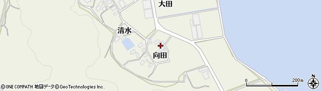 愛知県田原市芦町(向田)周辺の地図