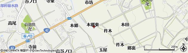 愛知県田原市南神戸町(本郷東)周辺の地図