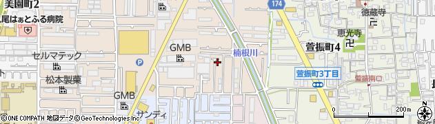 大阪府八尾市楠根町周辺の地図